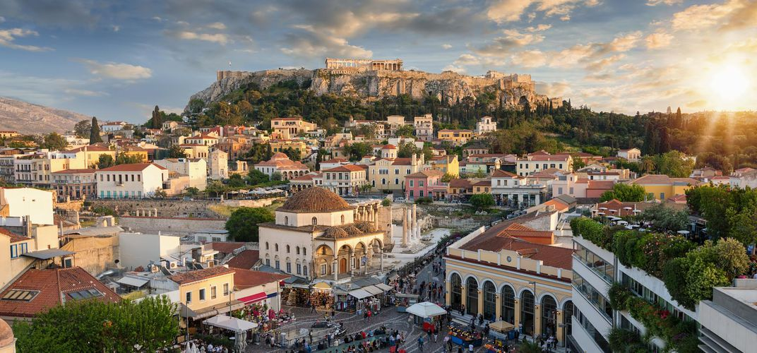 View of the Plaka, Athens