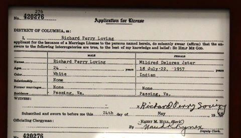 See the Marriage License From the Historic Loving Decision