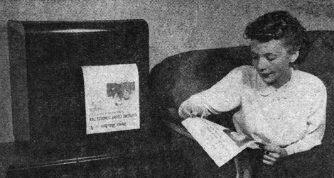 The radio-delivered newspaper machine of 1938