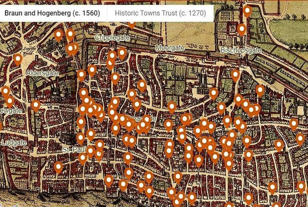 Relive Medieval London's Bloody Murders With This New Interactive Death Map