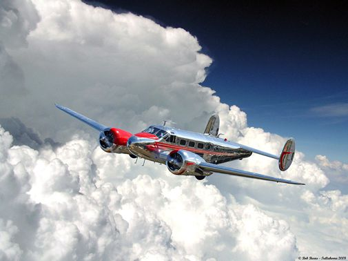 Parish Beech 18 with clouds-505.jpg