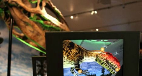 Augmented reality puts flesh on dinosaur bones.