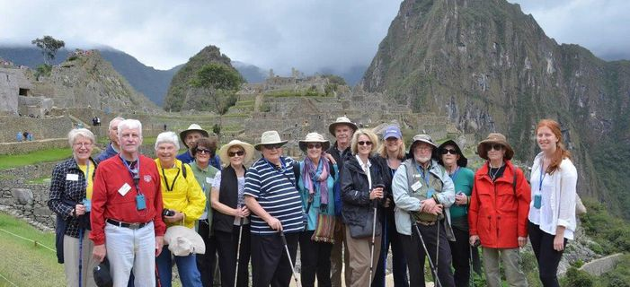 Smithsonian Journeys Legendary Peru travelers at Machu Picchu