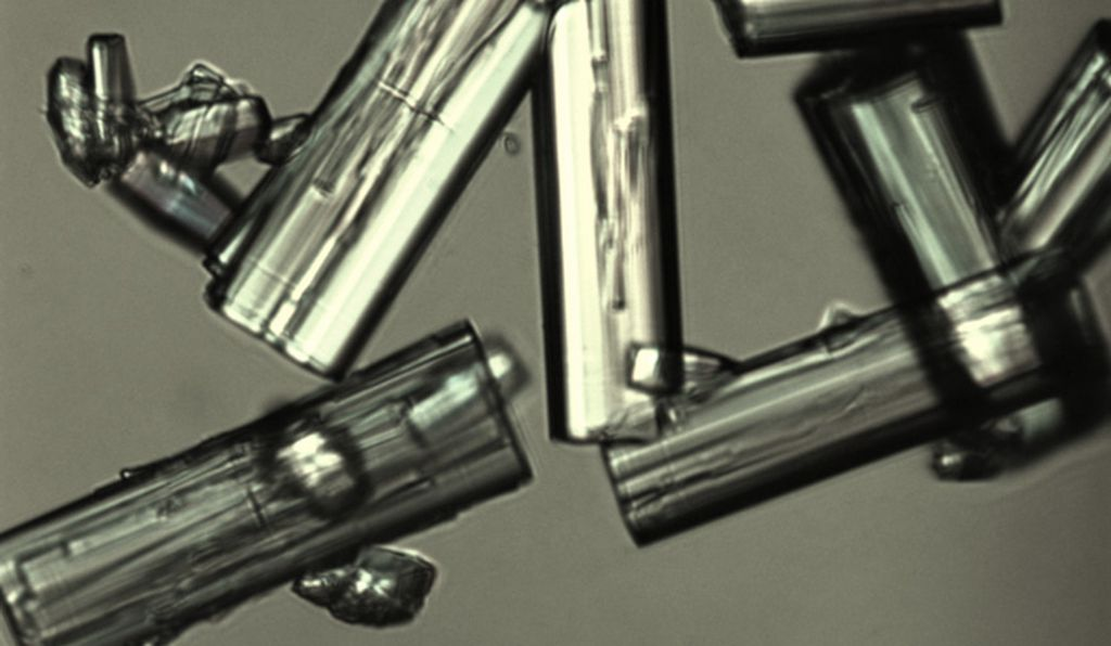 Microscope image of crystals of an MOF (UC Berkeley)