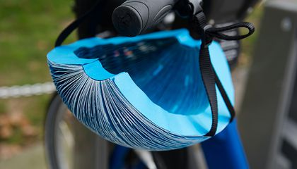 This Folded Paper Fans Out Into a Full-Size Bike Helmet