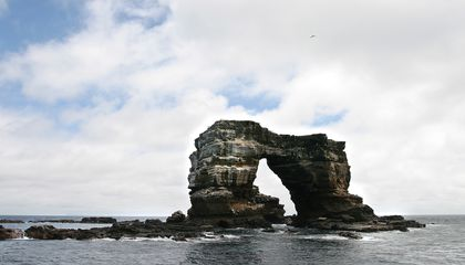 Iconic Natural Rock Feature in the Galápagos Islands Crumbles Into the Ocean