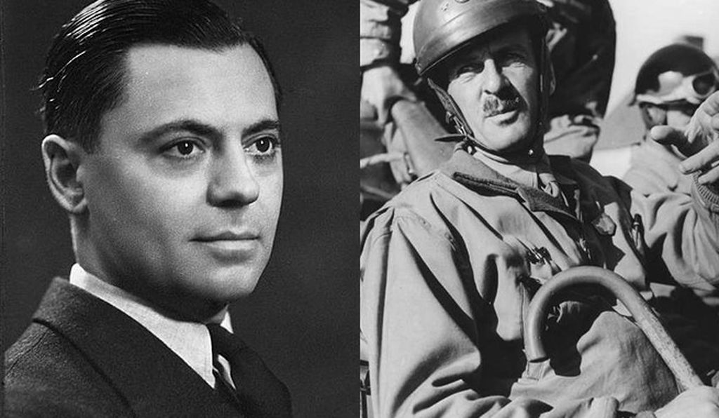 Jean Moulin, seen on left, spearheaded domestic resistance efforts, while General Leclerc, on the right, led troops from Normandy to Paris
