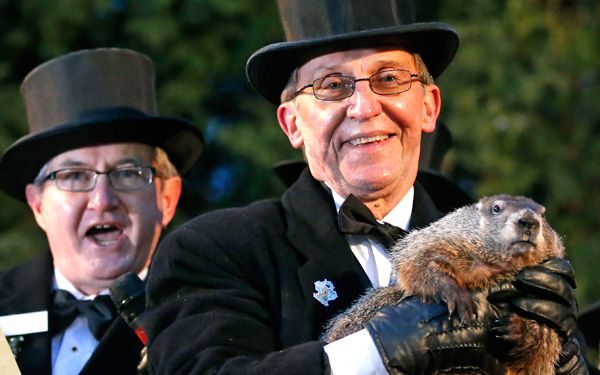 Groundhog says six more weeks of winter