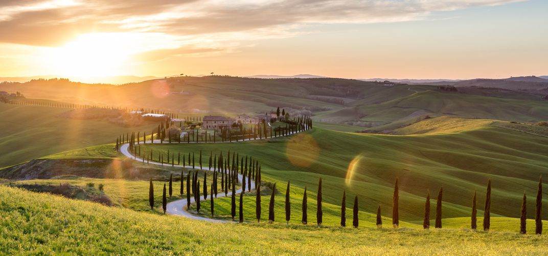 The landscape of Tuscany's Crete Senesi