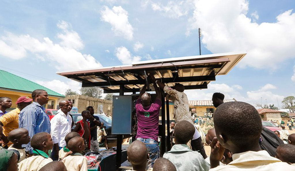 Once a village agrees to accept a kiosk, it's up to the locals to help build it.