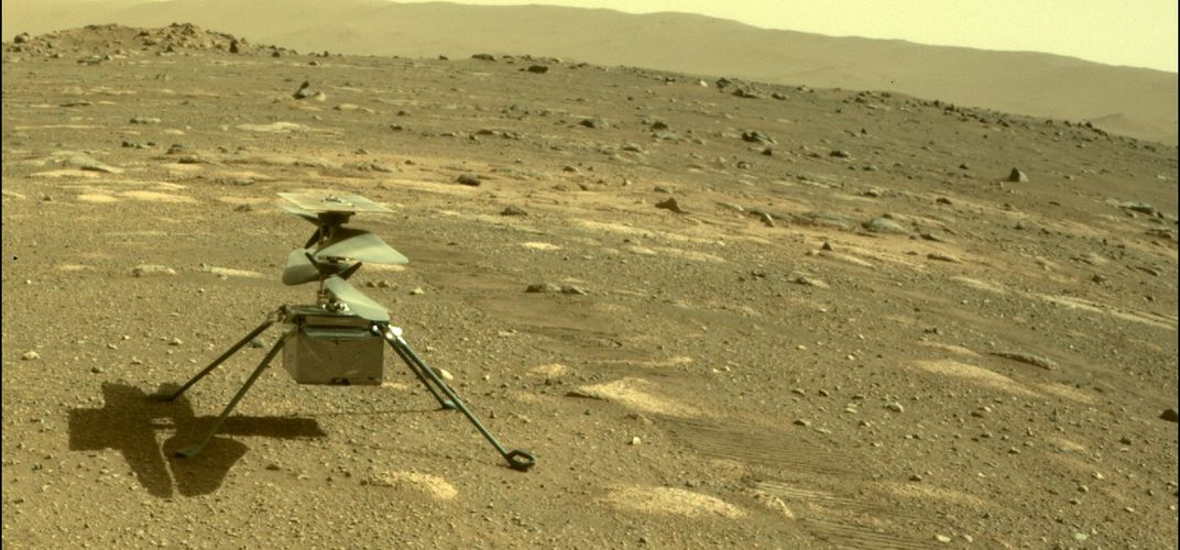 Caption: Ingenuity Helicopter Survives First Night on Mars