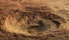 Maunder Crater, as seen by Europe's Mars Express spacecraft.