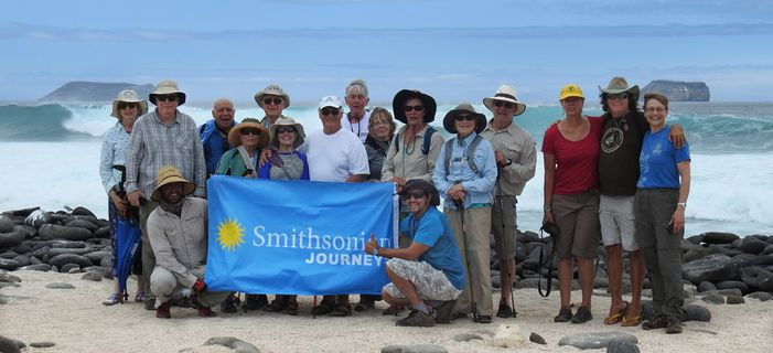 Smithsonian Journeys travelers exploring the Galápagos Islands