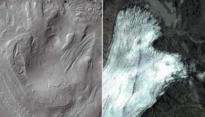 Glaciers on Mars, 3.5 Billion Years Ago