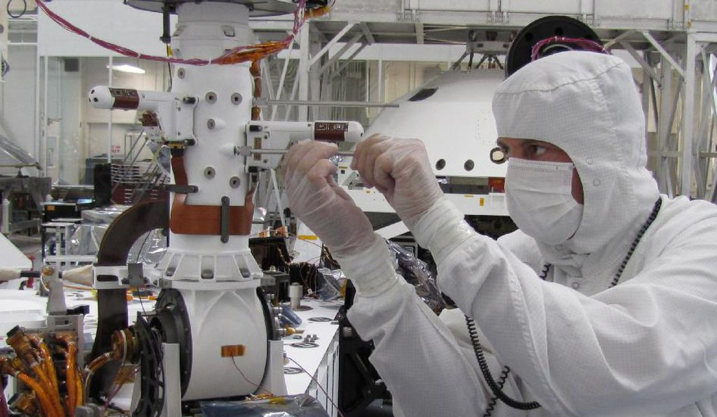A spacecraft specialist in a