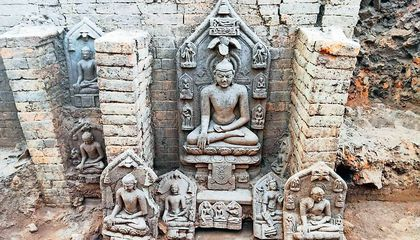 Remnants of Tenth-Century Buddhist Monastery Found in India