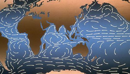 Map of ocean currents