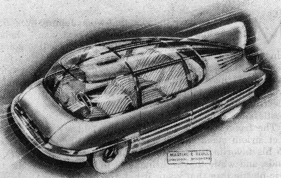 A post-war automobile with a plastic body (1944)