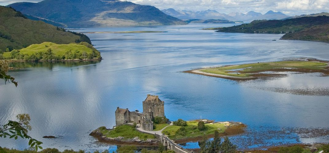 Eilean Donan Castle, located at Kyle of Lochalsh, near Scotland's Isle of Skye