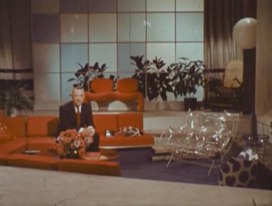 Walter Cronkite in the living room of the future