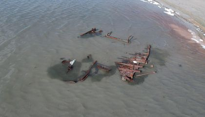 Storm Unearths Wreck of Century-Old Boat in Utah's Great Salt Lake