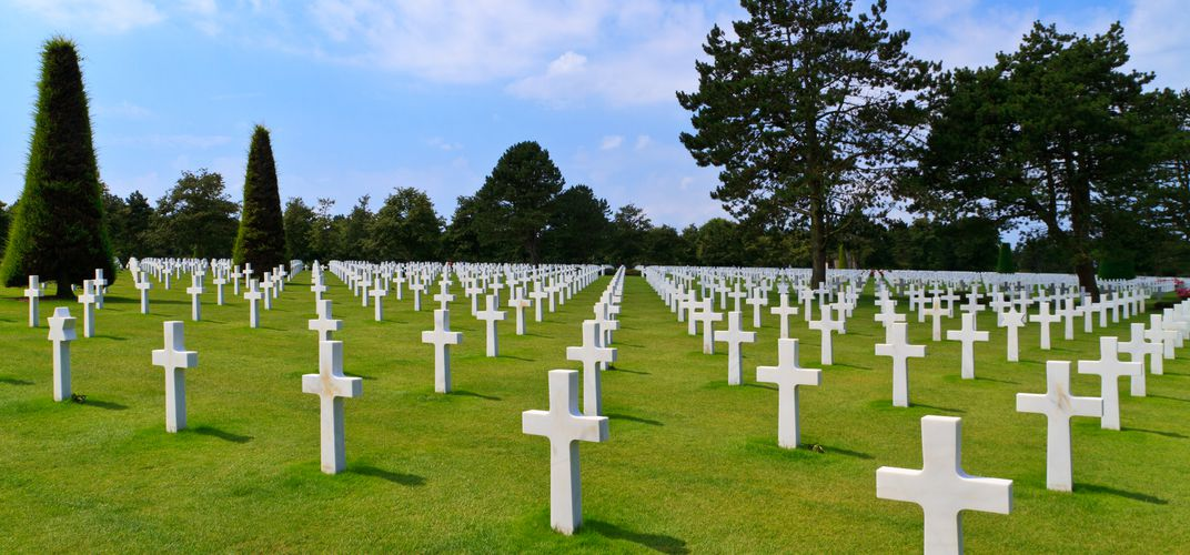 World War II cemetery near Omaha Beach, Normandy