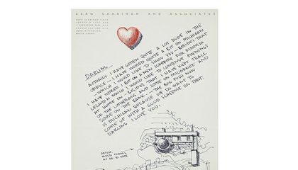Eero Saarinen letter to Aline B. Saarinen, 1953. Aline and Eero Saarinen papers, 1906-1977. Archives of American Art, Smithsonian Institution.
