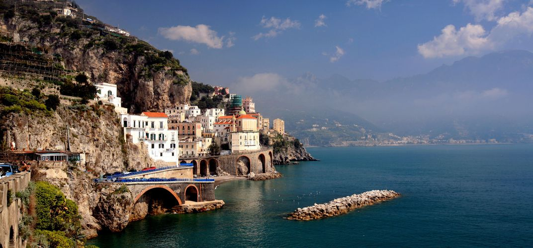 The beautiful Amalfi coastline