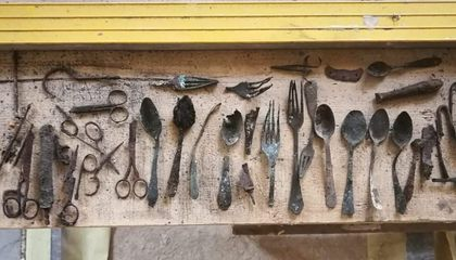 Auschwitz Renovations Unearth Prisoners' Hidden Trove of Tools