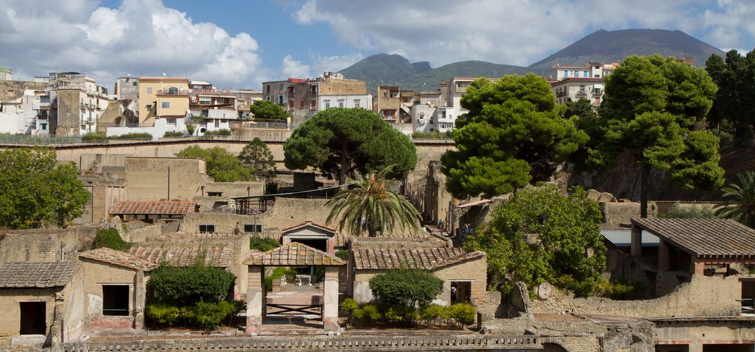 Modern town of Herculaneum overlooking the archaeological site