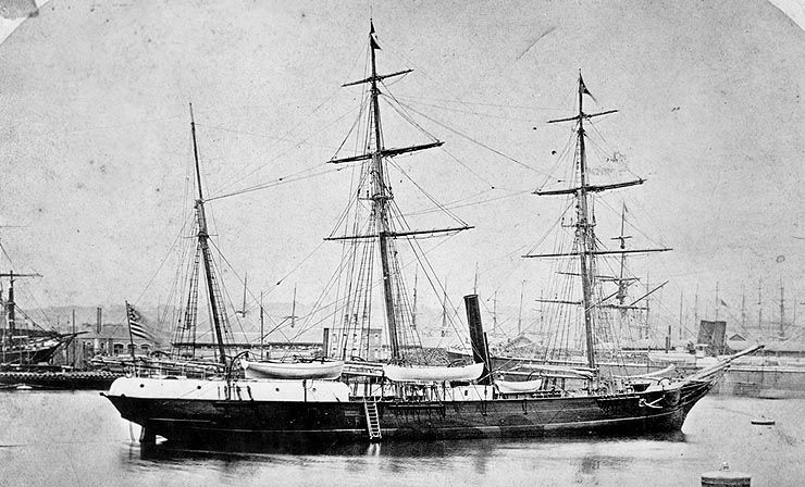 The Jeannette in Le Havre, France, 1878
