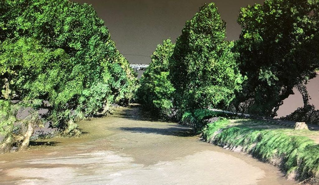 3D view of a Patapsco River channel point cloud.