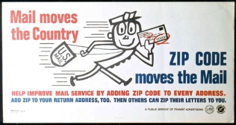 Mr. Zip, as featured on a public advertisement
