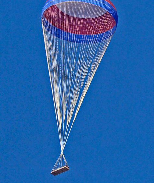 NASA tests a parachute for its new moon rocket.