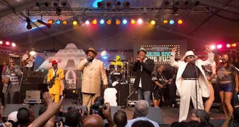 George Clinton and crew brought the crowd to their feet on the opening night of the Festival.