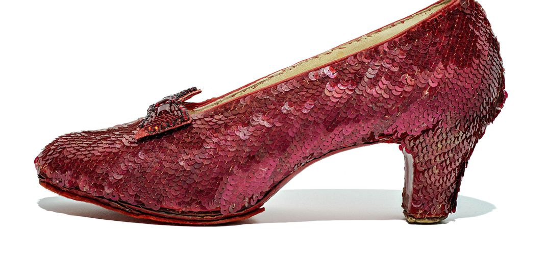 Caption: Dorothy's Ruby Slippers Preserved for the Ages