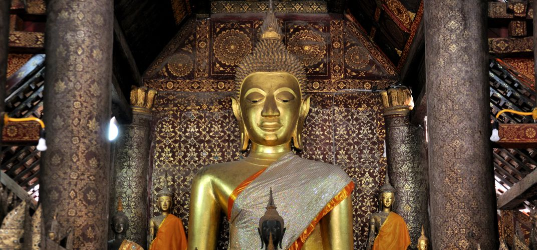 Buddha at Wat Xieng Thong Temple, Luang Prabang