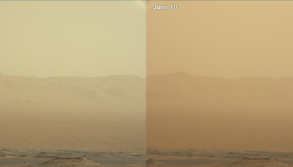 Massive, 'Unprecedented' Dust Storm Puts Mars Rover at Risk