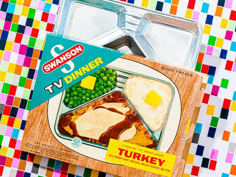 Vintage Swanson TV dinner packaging