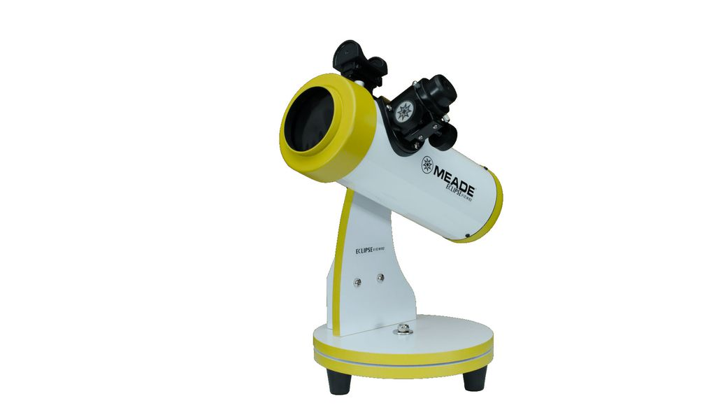 The Meade EclipseView 82mm telescope is designed to be portable, for eclipse watching anywhere.