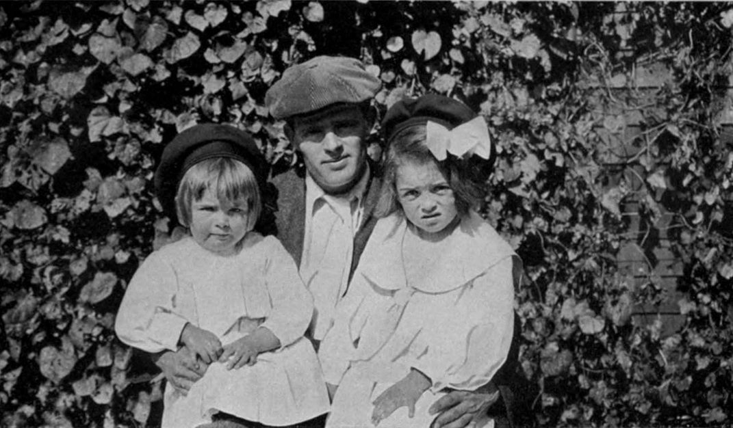 Jack London with daughters